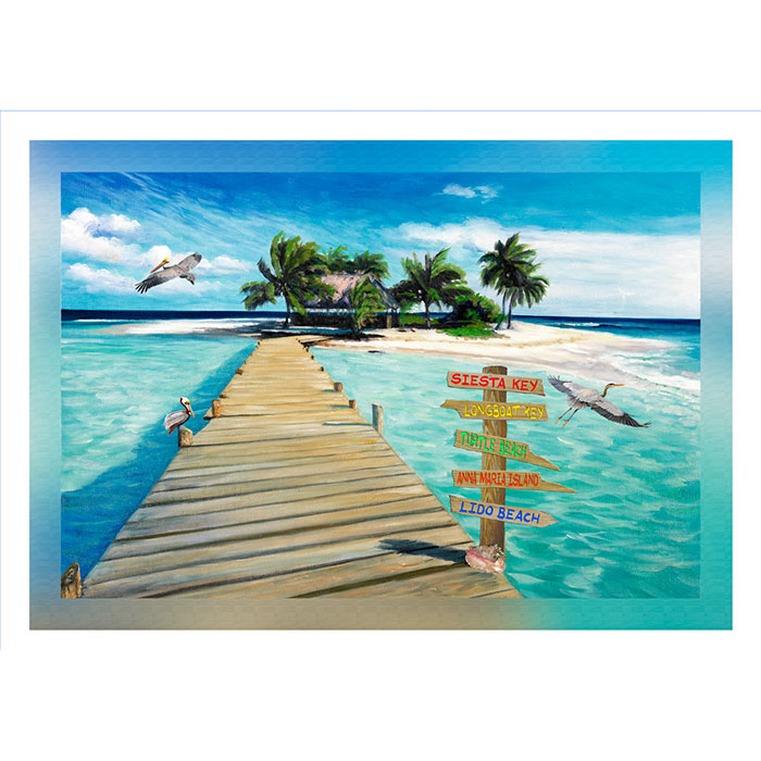Island Dock with Beach Signs 20 x 30 Sarasota