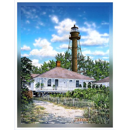 Sanibel Lighthouse 36 x 48 Canvas