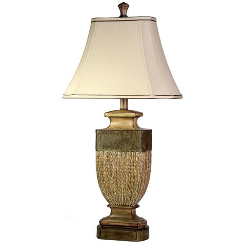 StyleCraft Comberland Finish and Cut Corner Traditional Lamp