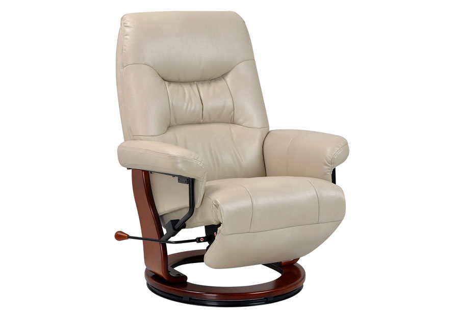 Benchmaster Swivel Reclining Chair in Taupe Breathable Fabric