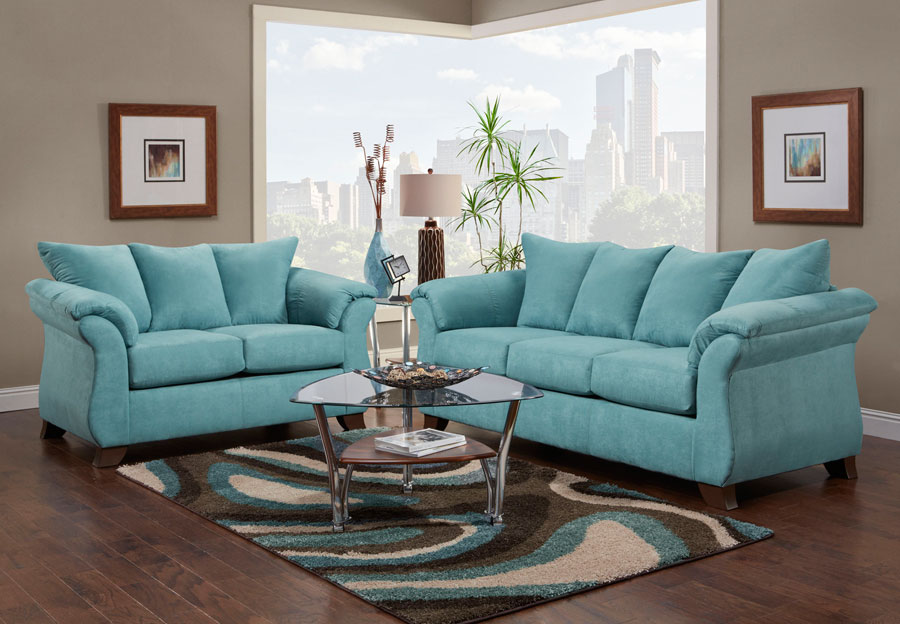 Affordable Furniture Sensation Capri Sofa and Loveseat 2 pc Set