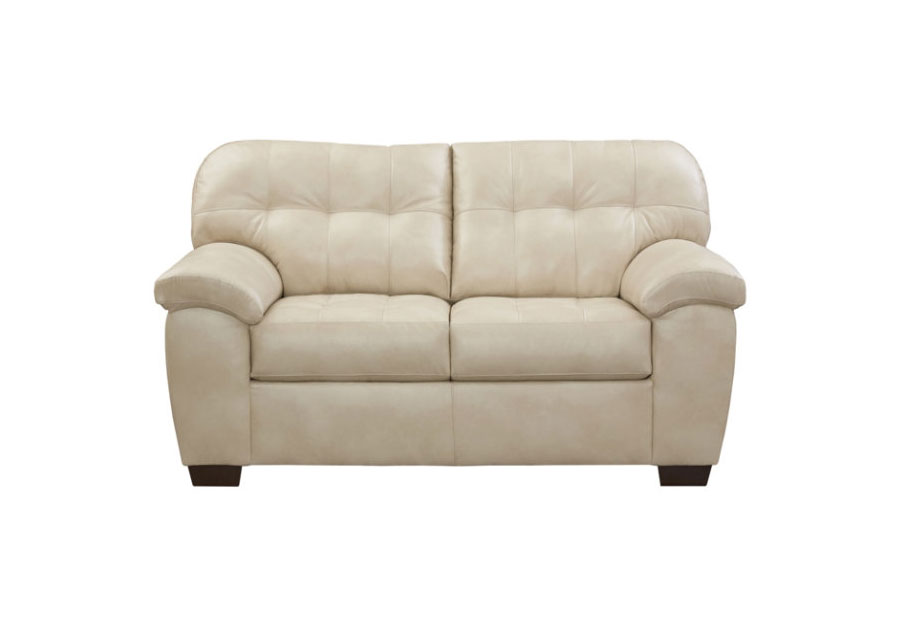 Simmons SoHo Pearl Showtime Breathable Leather Loveseat