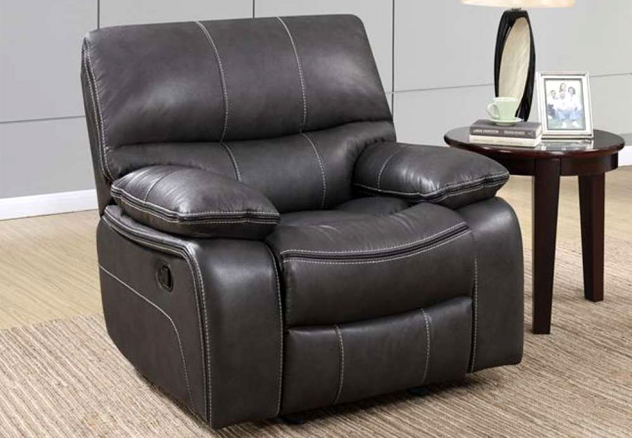 Global Expresso Brown Glider Recliner in Leather Gel