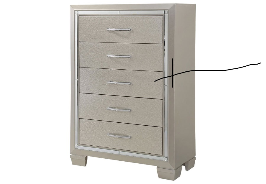 Elements Platinum Five Drawer Chest