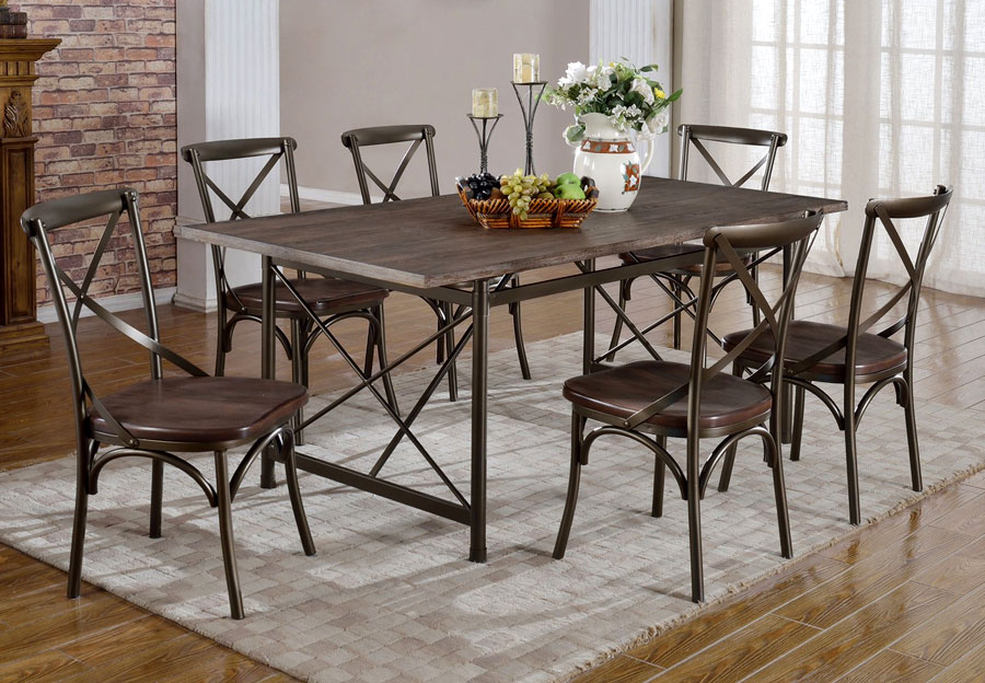 Bowry Antique Dining Table - Dark Walnut