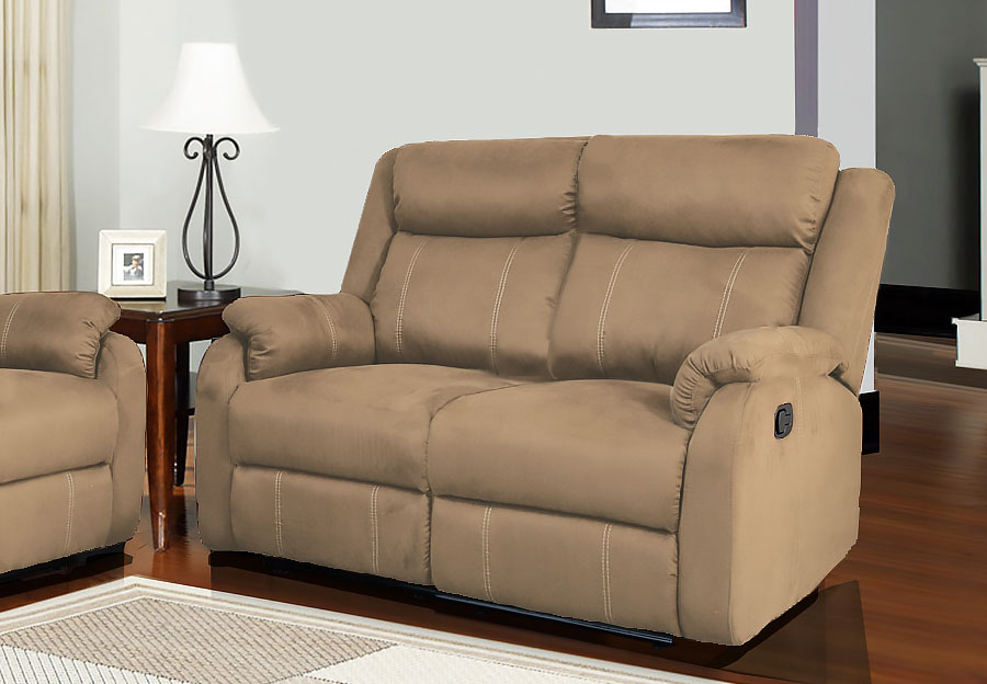 Global Dual Reclining Loveseat in Rider Khaki