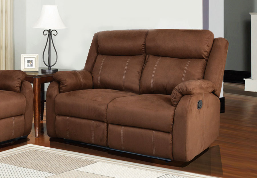 Global Dual Reclining Loveseat in Rider Brown