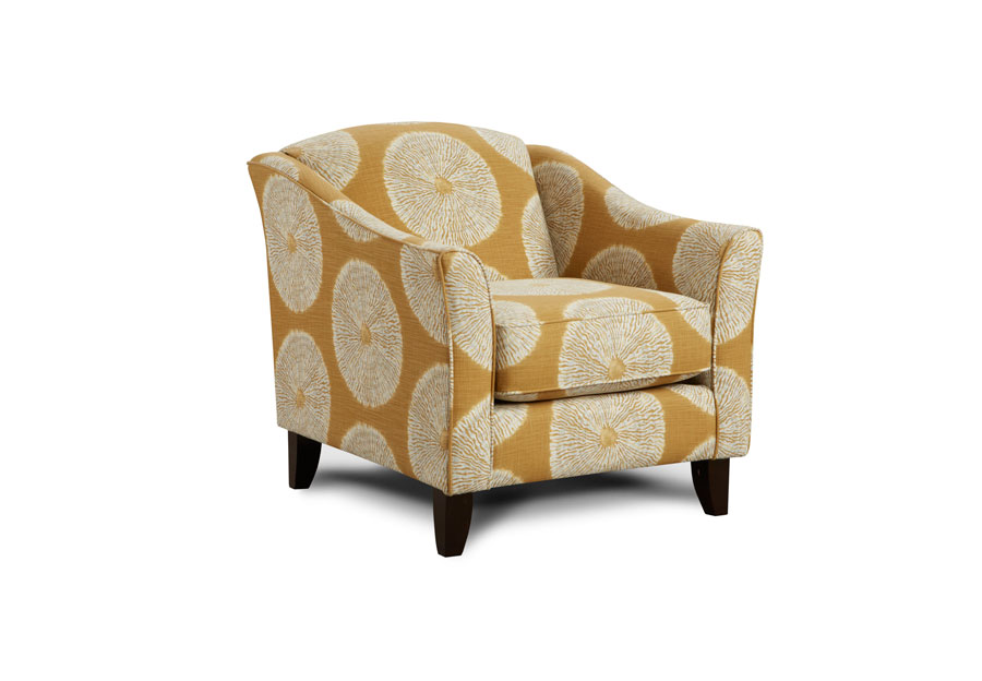 Fusion Shibori Sol Amber Accent Chair