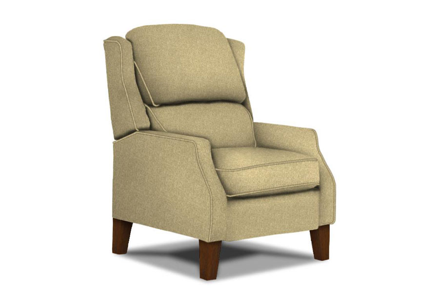 Best Hi-Back Pauley Recliner Belmar With Wood Legs