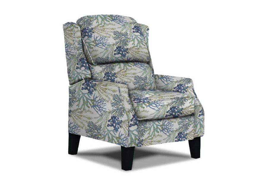 Best Hi-Back Pauley Recliner Oceanside With Wood Legs