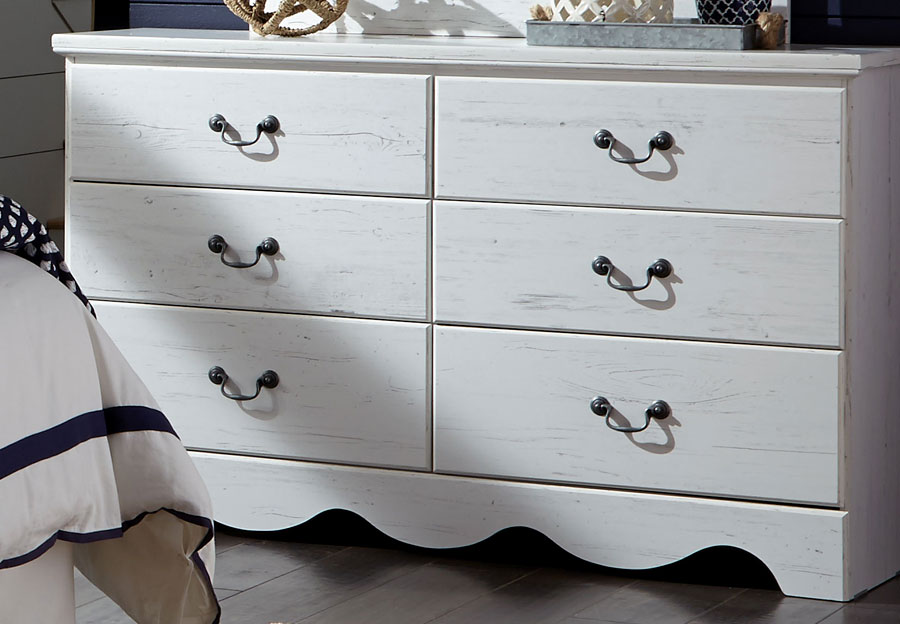 Standard Six Drawer Dresser Taylor White