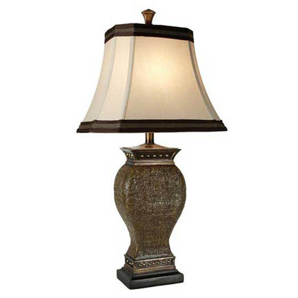 Stylecraft Poly Lamp with Rectangle Cut Corner Bell Shade