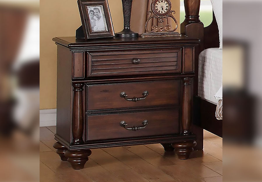 Elements Key West Havana Brown Nightstand