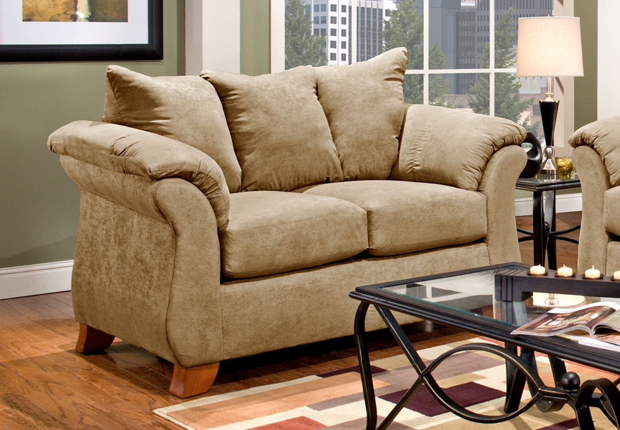 Affordable Furniture Sensation Camel Loveseat