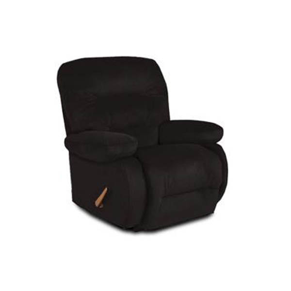 Best Maddox Brown Leather Match Swivel Rocker Recliner