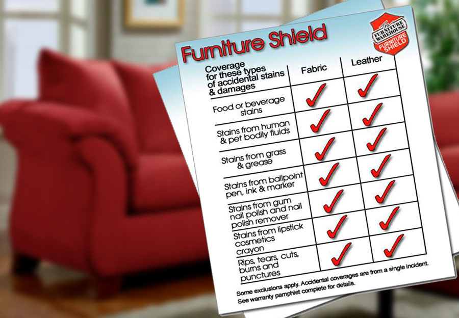 Furniture Shield Fabric Protection - Loveseat